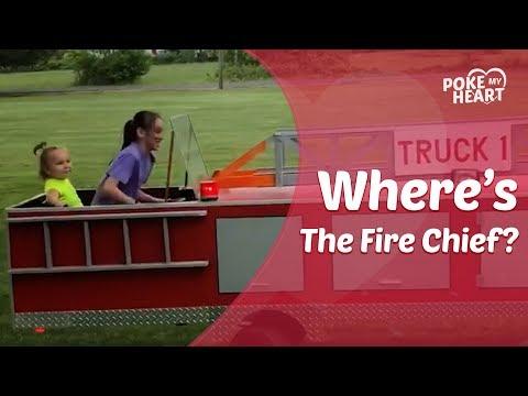 Fireman Builds Firetruck For Granddaughters