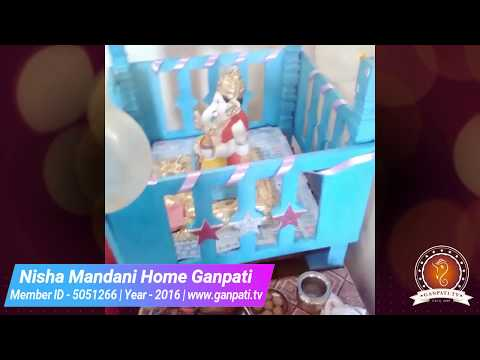 Nisha Mandani Home Ganpati Decoration Video