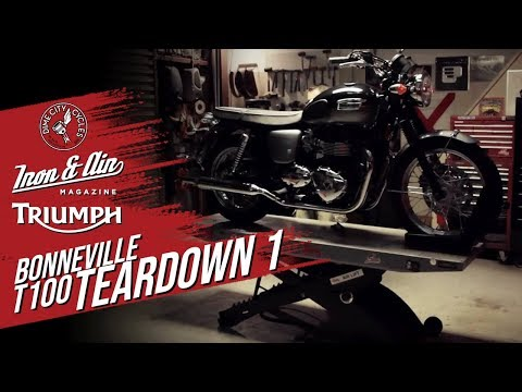 The Dime City, Iron & Air & Triumph Motorcycles Bonneville T100 Giveaway! - Teardown Video 1