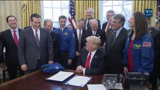 President Trump Signs S.442 - Space Exploration