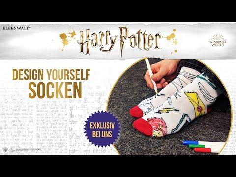 Harry Potter Socken zum Ausmalen