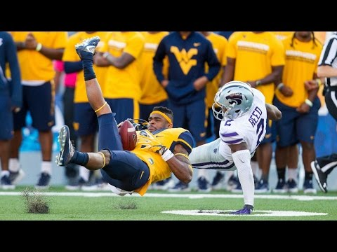 West Virginia WR Makes Great Catch While Losing Helmet   CampusInsiders