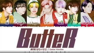 BTS - 'BUTTER' (Cooler Remix) Lyrics [Color Coded_Eng]