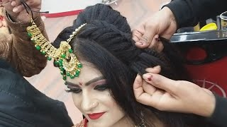 Real Bridal Juda Hairstyle For Short & Thin Hair For Beginners// Step By Step Easy & Simple Method