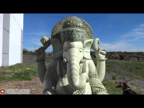SOLD Stone Ganesh Garden Sculpture 39