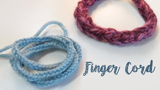 Finger Cord Lucet with no tools.