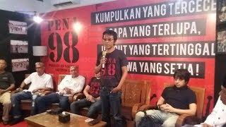 Pasca 2O Tahun Reformasi, Andian Napitupulu: Sudah saatnya Bersatu Ungkap Pelaku Kerusuhan 98