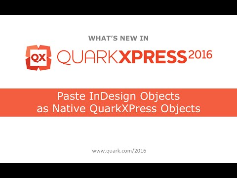 TOP 10 von QX2016: InDesign Objekte als Native QuarkXPress Objekte einfügen