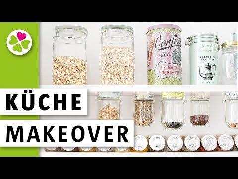 Küche Makeover | Vorräte neu organisieren | Müsli Regal mit Gläsern bauen | Vorher Nachher