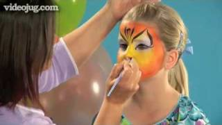 How To Face Paint A Tiger