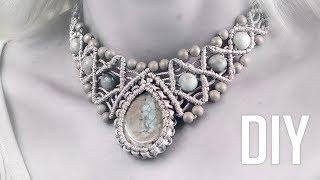 How To Wrap A Stone And Make Macramé Necklace | DIY
