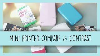 Mini Printer Compare & Contrast | LG PoPo, Polaroid Zip & FujiFilm Instax