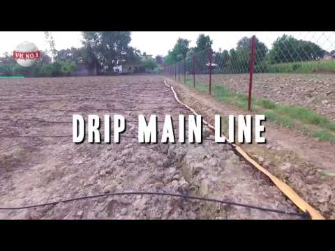 Drip Irrigation with Foldable/Flexible Main and Submain Line
