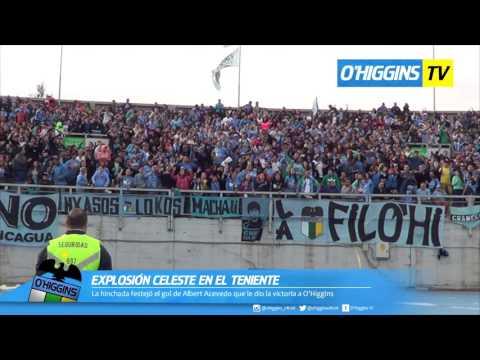 """Celebración hinchada O'Higgins 1 - 0 Wanderers"" Barra: Trinchera Celeste • Club: O'Higgins"