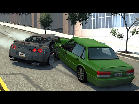 Traffic Car Crashes Compilation #7 - BeamNG.Drive
