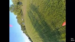 FPV Quadcopter 4s DJI Flight Around Yard