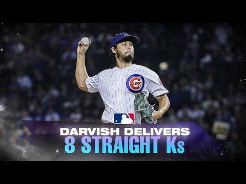 Darvish fans eight straight