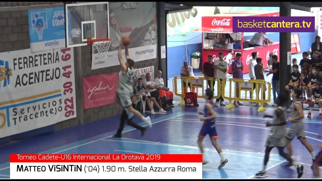 MATTEO ViSiNTiN (´04) 1.90 m. Stella Azzurra Roma.- Torneo U16M La Orotava (BasketCantera.TV)