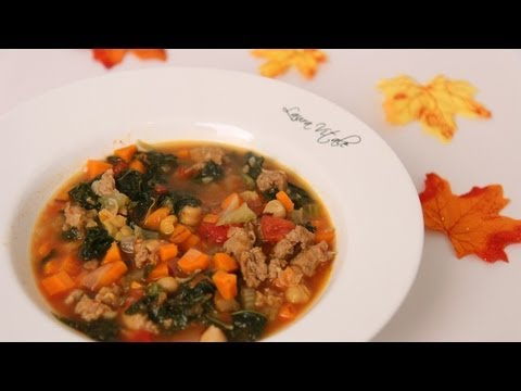Sausage & Kale Soup Recipe – Laura Vitale – Laura in the Kitchen Episode 457
