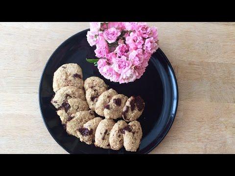 Chocolate Chip Cookies (No-Fat, Vegan, Healthy)