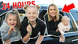 24 HOUR OVERNIGHT in CAR CHALLENGE with BABY in USA! 👶