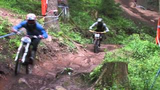 preview picture of video 'iXS German Downhill Cup 2012 im Conti Bikepark Bad Wildbad - Training'