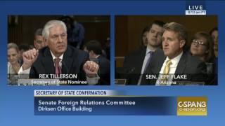 Sen. Flake at Tillerson Confirmation Hearing