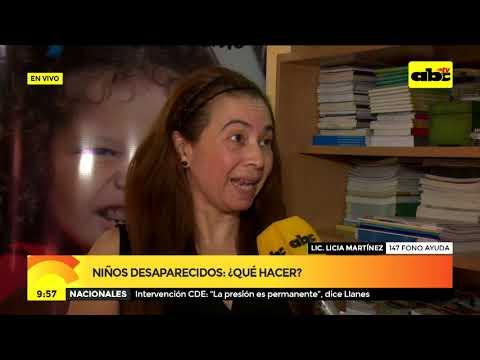 Niños desaparecidos: ¿qué hacer?