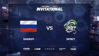 Sherifi vs Spirit, map 1 mirage, SL i-League Invitational Shanghai 2017 CIS Qualifier