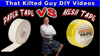 Mesh Tape OR Paper Tape for Beginners, find out when to use each