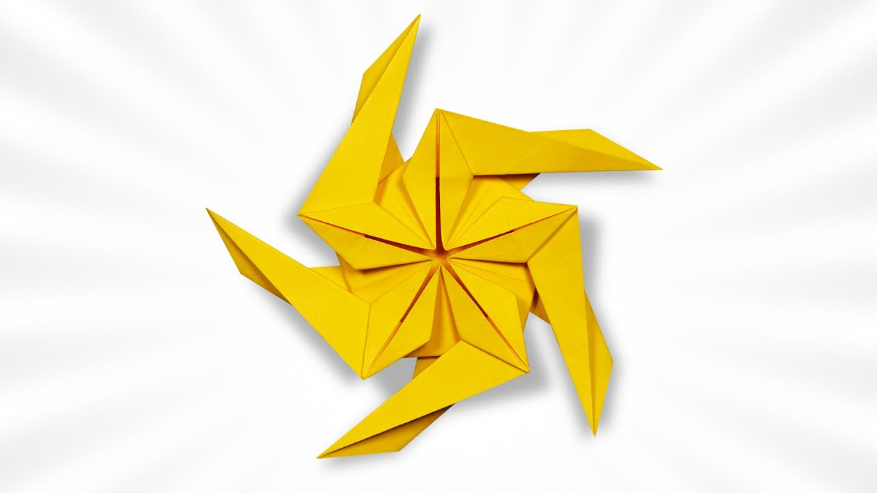 Origami Pentagonal Spinning Star (Seyed Masoud Hosseini)