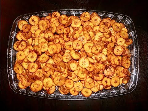 How To Make Crispy And Spicy Plantain Chips ( KPEKERE )