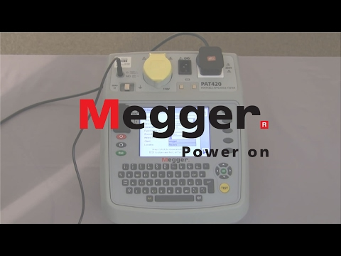 Megger PAT400 Series - Test & Tag demonstration