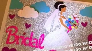 Cricut Wedding Bridal Shower Card