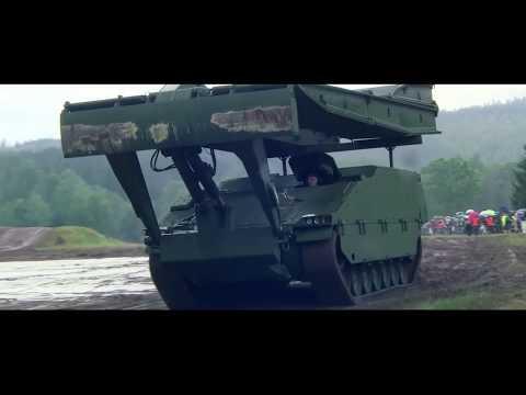 Vehículo Ascod de GDELS-SBS equipado con el puente cobra