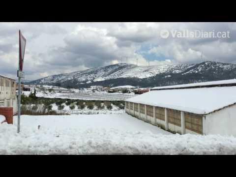 Espectacular nevada a Cabra del Camp