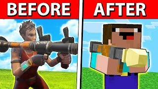 HOW FORTNITE WOULD LOOK LIKE IN MINECRAFT...