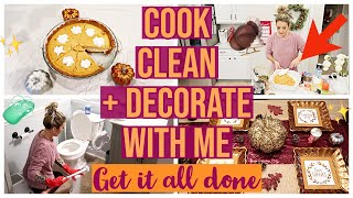 NEW COOK CLEAN + DECORATE 2019! ✨GET IT ALL DONE THANKSGIVING MEAL PREP + HOMEMAKING HACKS Brianna K