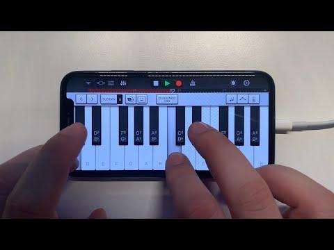 The Weeknd - Blinding Lights on iPhone (GarageBand)