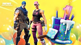 Fortnite Battle Royale - 1 YEAR ANNIVERSARY VICTORY | PS4 Pro Gameplay