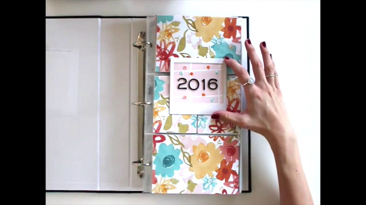 2016 Scrapbook: January to March Walkthrough Video