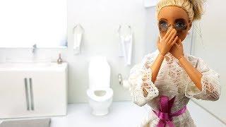 Rotina Da Noite De Uma Boneca Barbie - Trabalho, Banho E Mais!