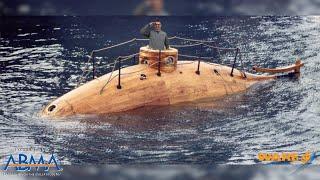 The First Steam Powered Submarine