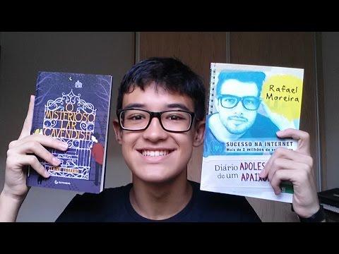 2 livros - Diário de um Adolescente Apaixonado e O Misterioso Lar Cavendish