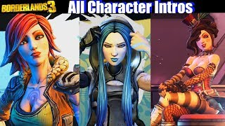 Borderlands 3 All Characters Intros / Introduction Scenes (Maya Tina Moxxi Mordecai Zero)