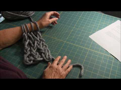 Arm Knitting - Knit Stitch