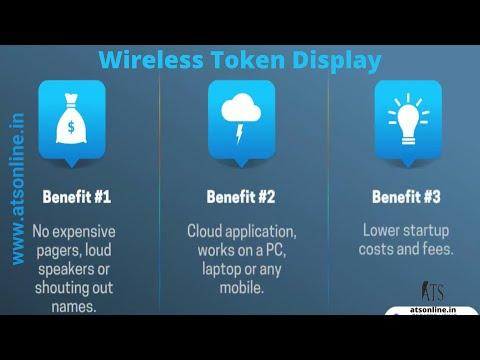 Wireless Token number Display - www.MyTokenDisplay.com