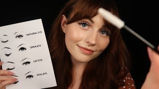 [ASMR] Beautician Does Your Eyelashes - Close up Personal Attention