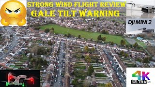 2021 DJi Mavic Mini 2 Ultra HD 4k Video Camera & Flight Test Review Sunset Strong Wind Tilt Warning