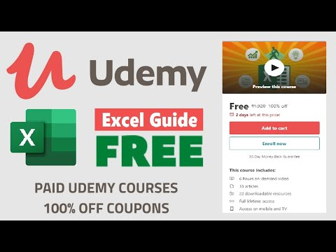 Microsoft Excel Udemy Free Courses with Certificate | Udemy 100% OFF Coupons